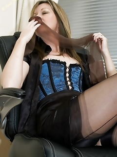 Tight corset and stocking legs