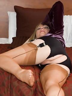 Stocking MILF legs