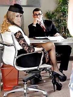 Long sexy stocking legs babes wearing high heels