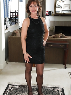 Elegand dress or sexy minidres combined with amazing legs in stockings