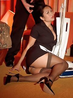 Cute asian girls in stockings